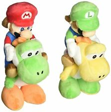 Sanei Super Mario Plush Doll Set Mario Riding on Yoshi & Luigi Riding on Yoshi
