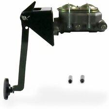 Universal FW Manual Brake Pedal kit Drum/Drum3in Blk Pad frame mount street rat