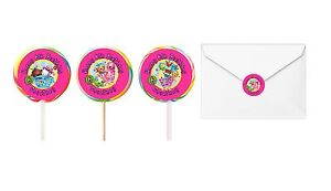 30 Shopkins Birthday Stickers Lollipop Labels Party Favors 1.5 in PERSONALIZE