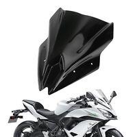 Motorcycle Windscreen Screen Windshield for Kawasaki Ninja 650 2017-2019 Black