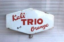 Old Vintage Advertising Enamel Sign Board Kali Trio Orange Collectible E26