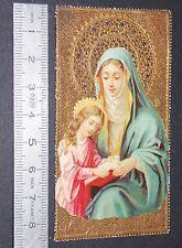CHROMO 1890-1899 IMAGE PIEUSE HOLY CARD CANIVET VIERGE MARIE
