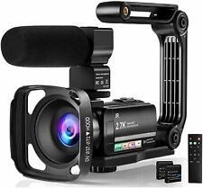 Video Camera Camcorder Digital Youtube Vlogging Camera, 2.7K Full HD 36MP/30FPS,
