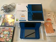 NINTENDO DSi XL Blue DS Console Mains Charger Operations Manual PLUS 5 games
