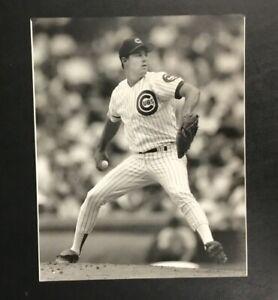 Greg Maddux Original Vintage 1991 Press Photo Chicago Cubs 8x10 Photograph B&W