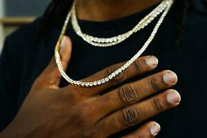 Gold Plated Tennis Chain Unisex necklace/bracelet 2.5mm/3mm/4mm/5mm