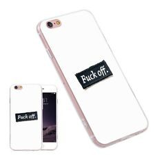 White FUCK-OFF TPU Printed Pattern Phone Case Conque for iPhone Samsung Huawei