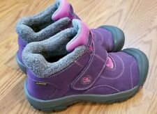 Women's KEEN Boots Kootenay Waterproof Purple Faux Fur Lined Winter Sz 5.5