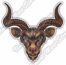"Goat Ox Africa Wild Animal Antelope Horn Car Bumper Vinyl Sticker Decal 4.6"""