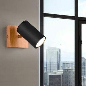 Applique murale LED salle à manger projecteur en bois lampe de couloir réglable