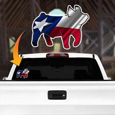 Show Pig Barrow Texas Flag Decal