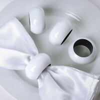 Set of 4 Acrylic Napkin Rings WEDDING PARTY BANQUET HOLIDAY CATERING