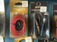 ****L@@K****CB Radio Power Cords 12 Volt 3 Pin 3 Wire With 5' Cord Barjan Diesel
