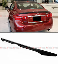 FITS FOR 2014-16 INFINITI Q50 S FACTORY SPORT STYLE ABS TRUNK BOOT SPOILER WING