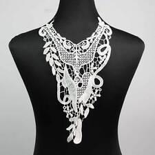 Black Off White Lace Applique Neckline Collar Venise Polyester Lace Trims Sewing