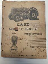 Original 1947 Case Model L tractor illustrated parts Catalogue
