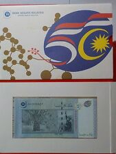 M'SIA RM50 AA 3 ZERO 0006827 GOLD LINE 50TH MERDEKA WITH FOLDER UNC