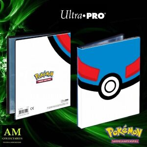 Ultra Pro - Pokemon 4-POCKET Portfolio Great Palla - Nuovo / Originale
