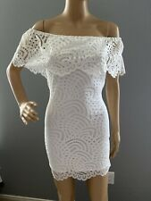 NWT Material Girl Women's Off The Shoulders Lace Back Cutout Dress Size XS
