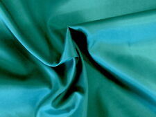 IR-Awesome TEAL BLUE-GREEN Light Weight SATIN TAFFETA Solid Fabric or Lining