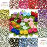 Quality Mini Satin Ribbon Roses With Leaf 25mm & 30mm Crafts Sewing Card Making