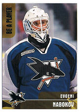 1999-00 BAP Evgeni Nabokov GOLD RC 52/100 !!! Rookie Be a Player