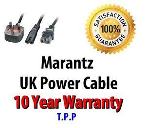 GENUINE UK Mains Power Lead Cable Cord For Marantz Audio Visual Music Equipment