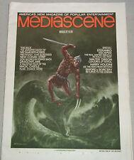 MEDIASCENE #27 tabloid 1977 fanzine Steranko Houdini Gibson Metamorphoses Conan