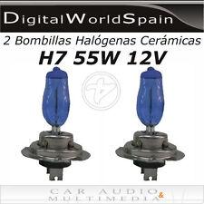 2 BOMBILLAS HALOGENAS CERAMICAS H7 55W 12V LUZ BLANCA TIPO XENON