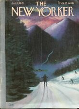 1961 CEM Charles E. Martin ART COVER ONLY-Downhill Ski Slope to Lodge Night View