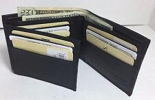 BRAND NEW MEN FLIP FLOP TRI FOLD LEATHER BLACK  WALLET CARD HOLDER ORGANIZER