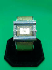 ladies terner silver tone fashion bangle bracelet watch,silver/gold dial.b2.