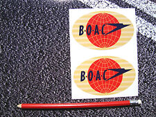 BOAC AIRLINES STICKERS COMET AVIATION AEROPLANE AIRLINER VINTAGE RETRO