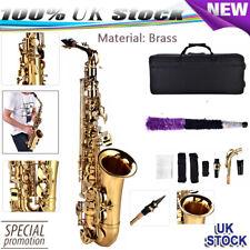 Alto EB Sax Saxophone Set F# Tone W/storage Case Mouthpiece Accessories Golden