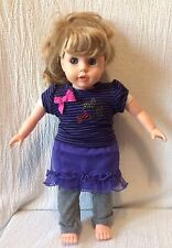 "16"" Blond Doll What A Doll Clothing Sleep Eyes Ponytail Kmart"