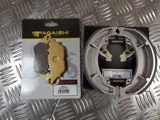 YAMAHA YBR125 BRAKE DISC PADS AND REAR BRAKE SHOES 2007 TO 2015 INC CUSTOM MODEL