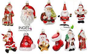 Christbaumschmuck Weihnachtsmann Figuren Glas Anhänger Weihnachtsbaumschmuck