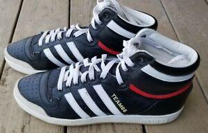 Adidas TOP TEN Sz 12 Black / Red/ White Leather