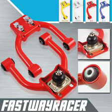 96-00 Civic Red Adjustable Front Upper Control Arm Arms Camber Kit Tubular Arm