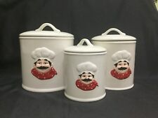 "Sealing Ceramic ""Chef"" Canisters Set of three"