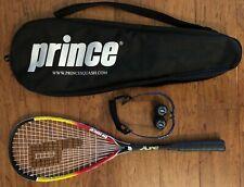 PRINCE Power Fan Extender Arc Squash Set, Racquet, Balls, Glasses, Carry Case