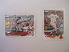 Topps 2 card David Ortiz Card Lot  -  Boston Red Sox 2011 and 2013  NICE!