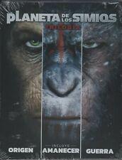 BLU-RAY El Planeta de los Simios La Trilogía - Steelbook              PRECINTADO