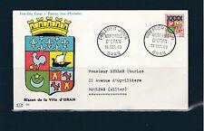 enveloppe 1er jour   armoirie d' Oran    1960