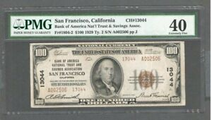 1929 US $100 Dollar Note / Bill - Fr#1804-2 Ty. 2 - Low Serial # - PMG 40 - S513