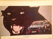 BMW 3.0 CSL Hans-Joachim Stuck 1987 BMW Ag Reprint Car Poster Extremely Rare!