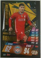 2020/21 Match Attax UEFA - Roberto Firmino Gold Limited Edition LE1G Liverpool