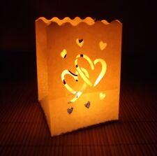 10 Lichtertüten Big Love klein Motiv Herzen Luminaria