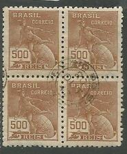 Brazil SC 438 Block of 4 VFU (5cgv)