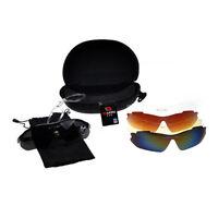 Sports Cycling Bike Bicycle Sunglasses UV400 5 Lens Goggles GlassesJE